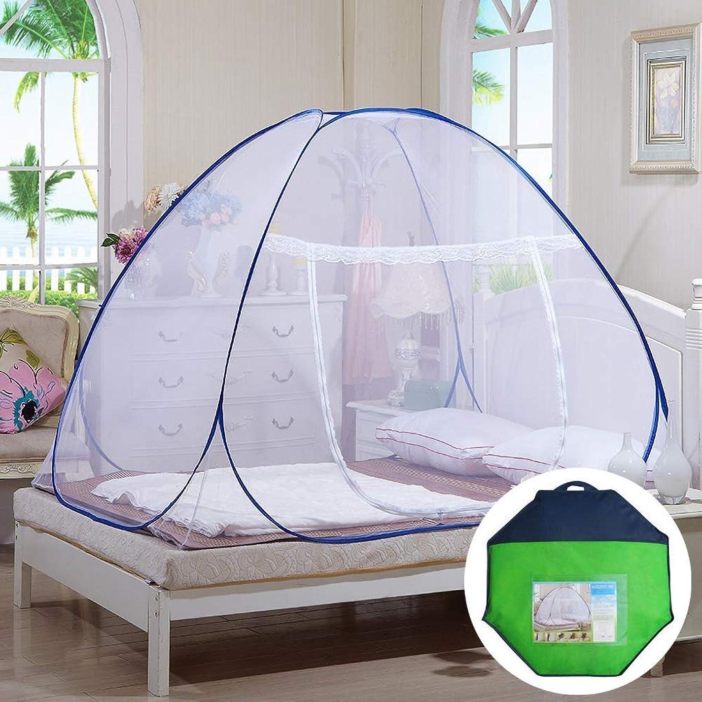 含意不運突っ込む蚊帳はジッパーのドアが付いているテントの屋内底をぽんと鳴らします蚊帳、昆虫を防ぎなさい、単一のドア、150 * 200 * 150CM