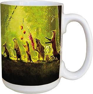 Tree-Free Greetings Secret Parade 15 Ounce Ceramic Coffee Mug with Full Sized Handle