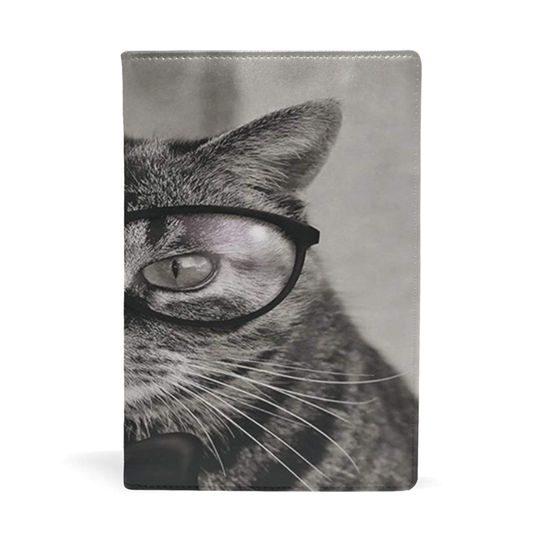 酔っ払い引き受ける訴える猫 学者 ブックカバー 文庫 a5 皮革 おしゃれ 文庫本カバー 資料 収納入れ オフィス用品 読書 雑貨 プレゼント耐久性に優れ