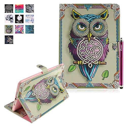 Custodia per iPad Mini 1/2/3, Deenor Colorato La pittura e Elegante Portafoglio Case PU Pelle Flip Protettivo Stand Custodia Cover per Apple iPad Mini 1/2/3 Generation.[Color Owl]