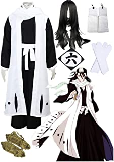 Death Bleach Kuchiki Byakuya Cosplay Halloween 6th Division Captain Cosplay Costume Full Suit