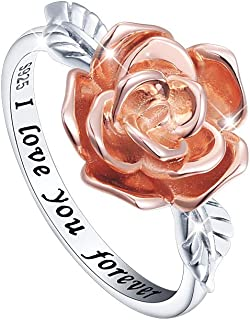 Best sterling silver rose flower ring Reviews