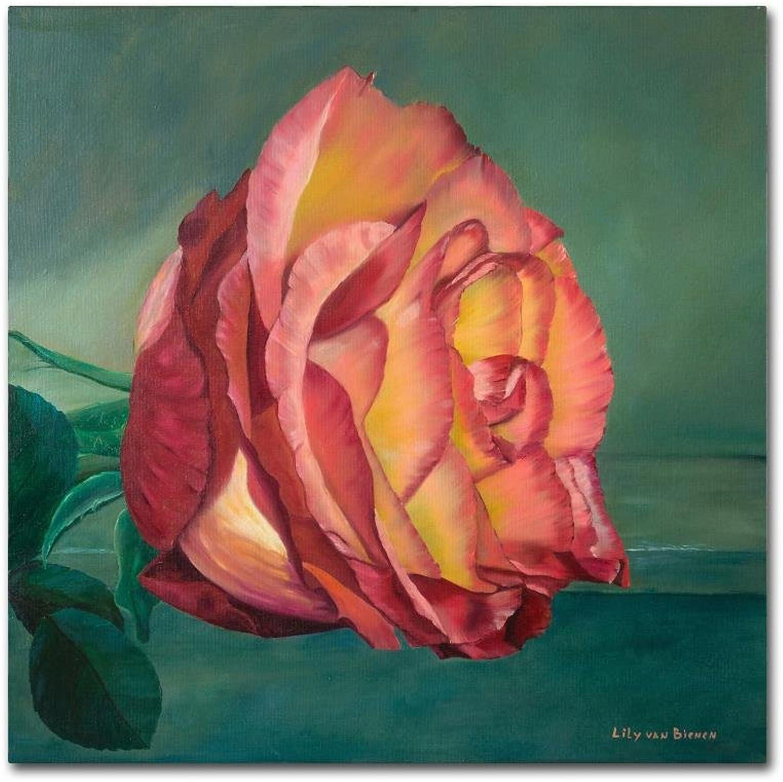 Trademark Fine Art A pink is a pink 2 by Lily Van Bienen, 14x14 Canvas Wall Art