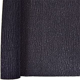 Just Artifacts Premium Crepe Paper Roll - 8ft Length/20in Width (Color: Black)