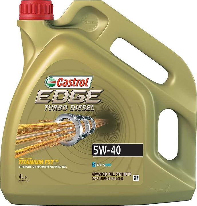 Olio motore castrol edge turbo diesel 5w-40 q3 titanium 4l olio motore turbo diesel 7434