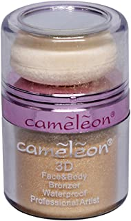 Cameleon 3D Face and Body Waterproof Bronzer, 10g (Golden)