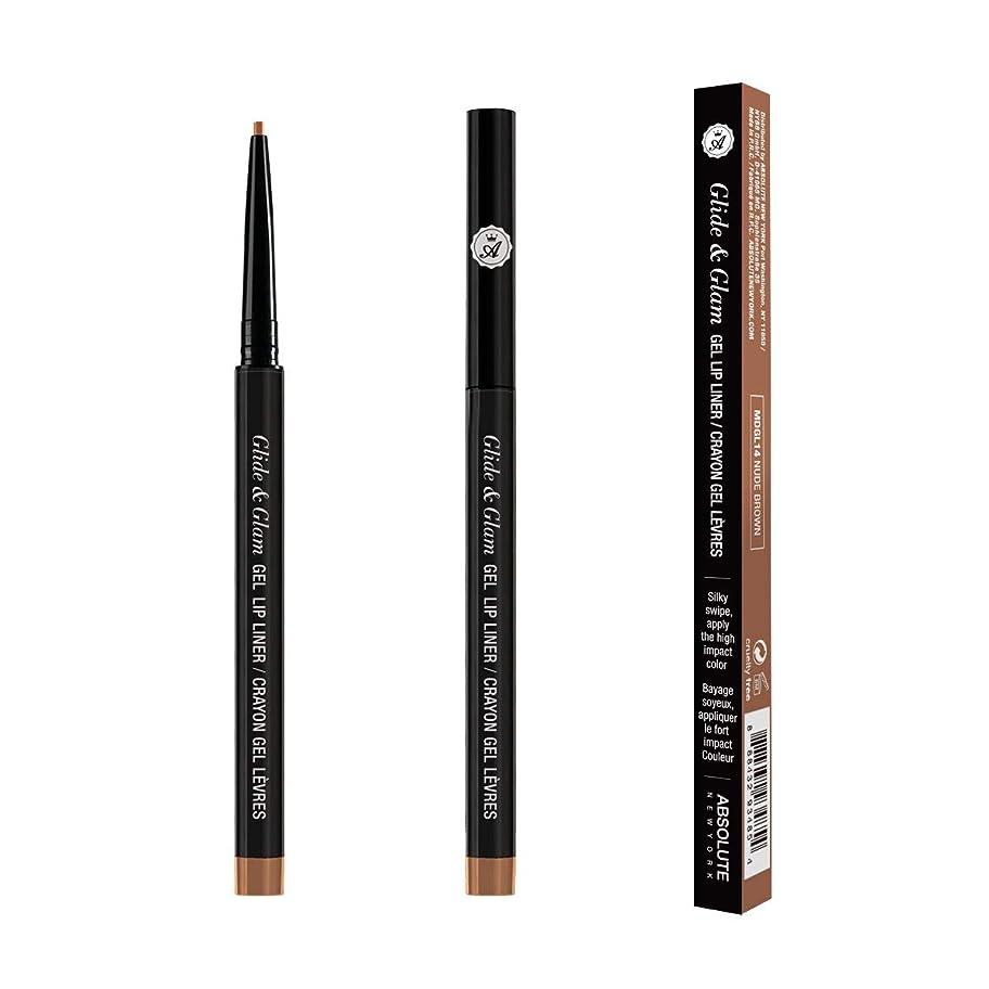 (3 Pack) ABSOLUTE Glide & Glam Gel Lip Liner - Nude Brown (並行輸入品)