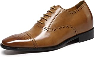 Juleya Chaussures daffaires pour Hommes Derby Formal Lace-Up Loisirs Chaussures Oxford Chaussures en Cuir PU Robe de mari/ée Chaussures 38-48