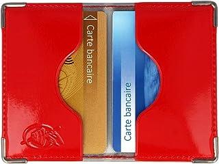RFID Porte-Carte de Cr/édit Samione 2PCS Etui de Carte de Visite Porte-Cartes en Acier Inoxydable avec 6 Fentes en PVC pour Hommes et Femmes Anti-piratage et Bloquer Les Voleurs dIdentit/é