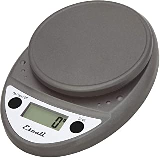 Escali Primo Digital Kitchen Scale (11 lb/ 5 kg Capacity) (0.05 oz/ 1 g Increment) Premium Food Scale for Baking Cooking - Lightweight and Durable - Lifetime ltd. Warranty - Metallic (Renewed)