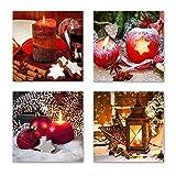 Weihnachten Set B schwebend, 4-teiliges Bilder-Set jedes