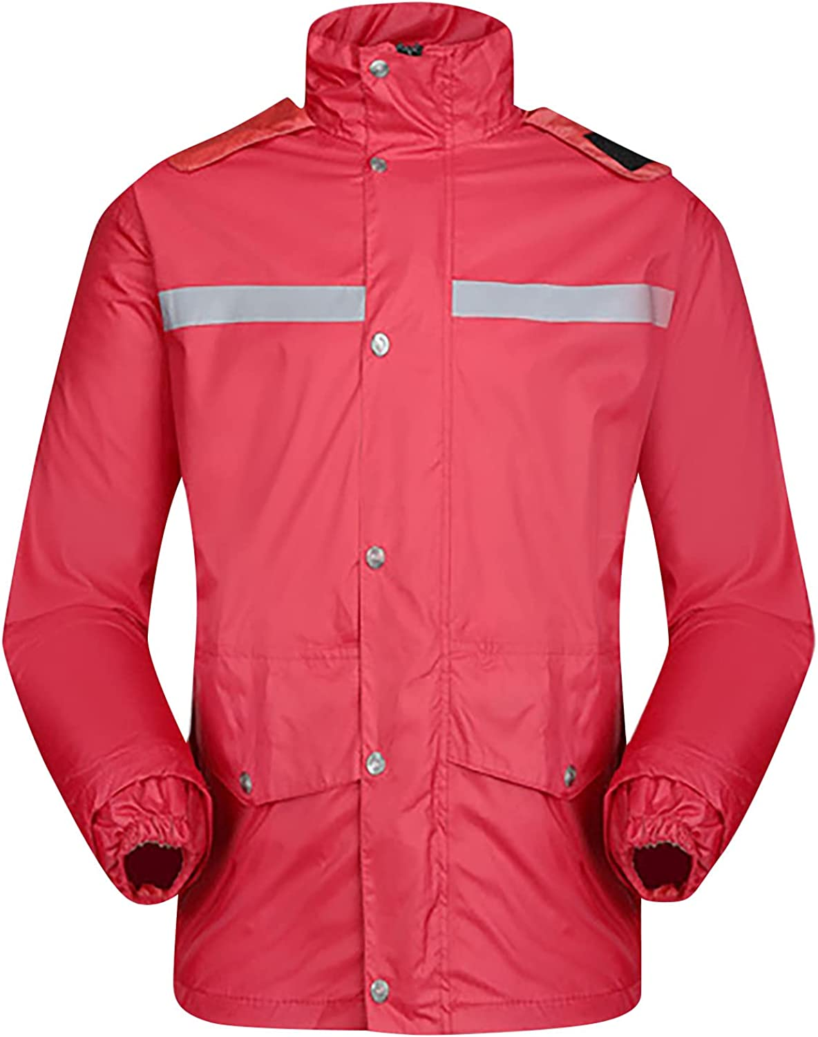 Rain Suits for Men Waterproof,with Reflective Strip Hooded Rain Suit for Mens Womens