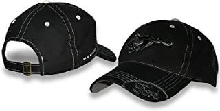 Ford Mustang Black Hat with Silver Stitching