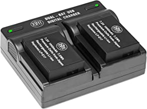 BM Premium Decoded 2-Pack of LP-E17 Batteries and Dual Battery Charger for Canon EOS M6 Mark II, EOS RP, Rebel T6i, T6s, T...