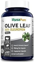 Olive Leaf Extract 750 mg 50% Oleuropein (Non-GMO & Gluten Free) – Vegetarian..