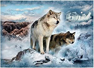 Hoffman Fabrics Hoffman Digital Call Of The Wild Wolf 33inPanel Glacier