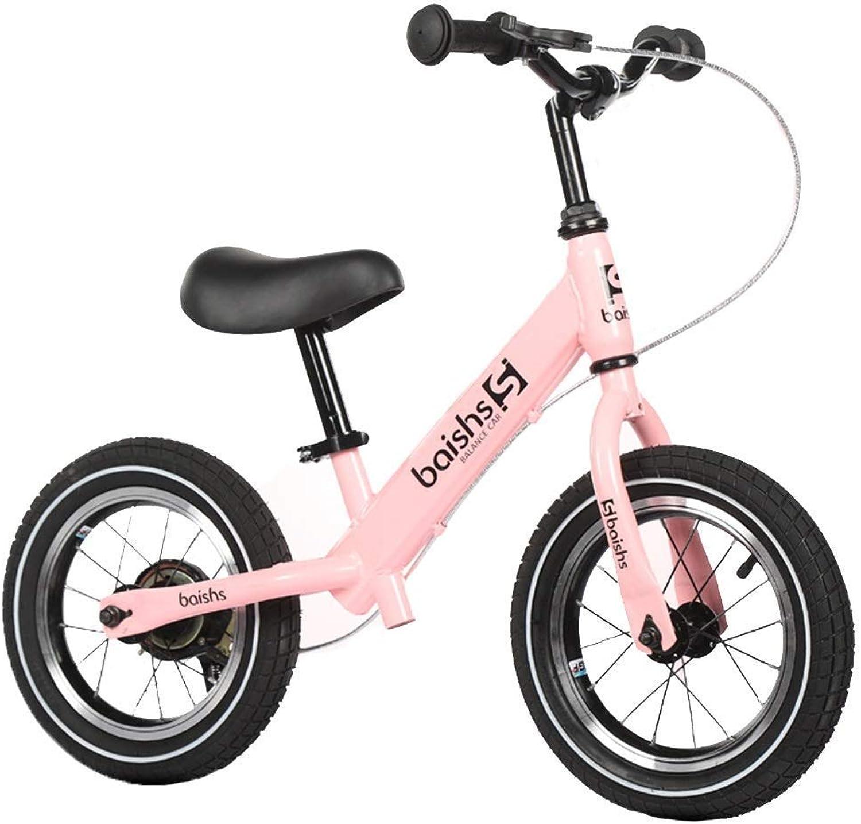Kinder Laufrad, Laufrad für Kinder 2, 3, 4, 5, 6 Jahre alt, Trainingsfahrrad mit manueller Bremse, leichtes Luftreifenfahrrad, Verstellbarer Lenker und Sitz ZHAOFENGMING