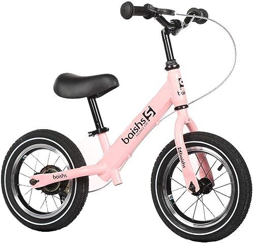 Vélo d'équilibre avec Frein Manuel, vélo d'entraîneHommest pour Filles et Garçons, Marche Vélo d'équilibre pour pneus de 2, 3, 4, 5, 6, 6 Ans, pneus pneumatiques légers ZHAOFENGMING