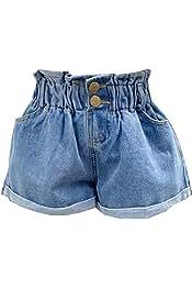 Ex Next Baby Girls Denim Jeans Summer Shorts Age 3-24 Months