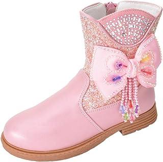 LOBTY filles princesse chaussures de neige Elsa bottes enfants bottes d'hiver avec des bottes en caoutchouc doublées chaud...