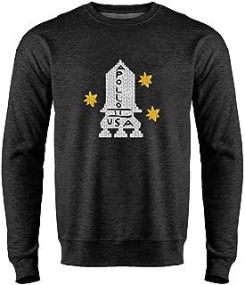 Apollo 11 Retro Knit Sweater Style Costume Crewneck Sweatshirt for Men