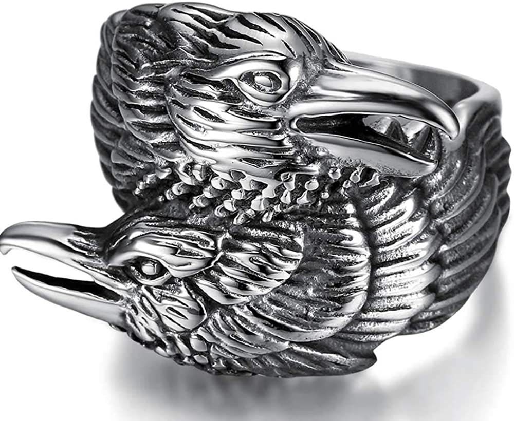 Jude Jewelers Stainless Steel Retro Style Bird Eagle Wedding Party Cocktail Statement Biker Ring