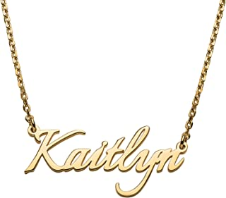 RESVIVI Sterling Silver Personalized Name Necklace Custom Made Any Name Pendant Necklace