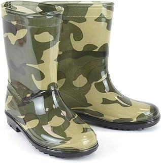 DINZIO Kids Boys Girls Wellington Boots