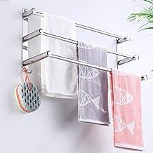 AINIYF Bathroom Shelf Towel Rail Stainless Steel Bars Wall Mounted Space Saving Storage Towel Rack Holder for Bathroom Hot...