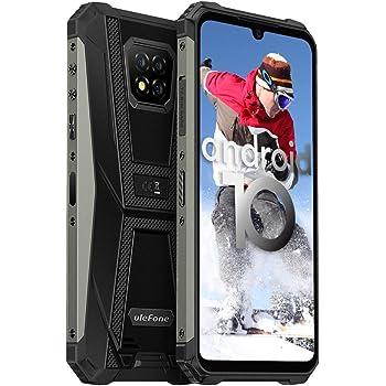Rugged Smartphone Unlocked, Ulefone Armor 8 4GB + 64GB Android 10, 16MP Triple Waterproof Camera, IP68/IP69K Durable, 6.1 inch HD+, 4G Dual SIM, 5580mAh Battery, NFC, OTG, Fingerprint Face ID, Black