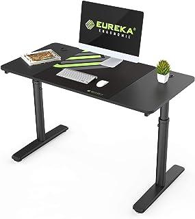 EUREKA ERGONOMIC Height Adjustable Computer Desk 47 Inch Multi-Functional Home Office Study Writing PC Gaming Desk Laptop ...