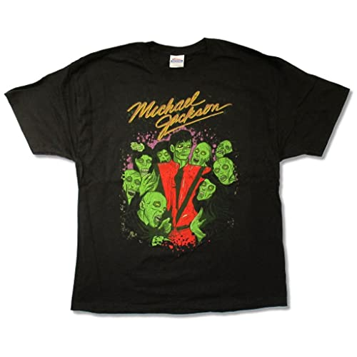 Michael Jackson Zombie Crew Thriller Mens Black T Shirt