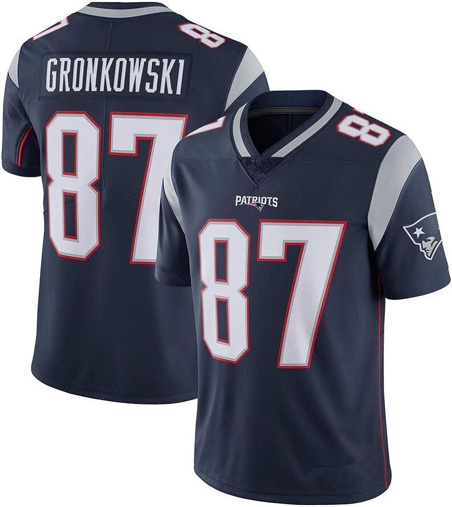 cjbaok Camiseta Patriot Childrens Wear Camiseta de fútbol # 12 Brady # 87# 11 Sports Camiseta de Manga Corta