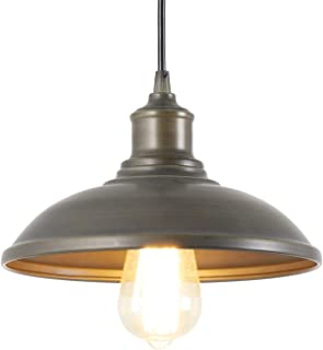 Giluta Adjustable Industrial Barn Pendant Lighting Rustic Vintage Ceiling Hanging Light Fixture with Indoor Antique Edison Style and Retro Look Indoor for Kitchen Dining Room Farmhouse (1 Light)