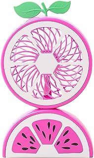 HUI JIN - Ventilador de escritorio de mano con carga USB, para niñas, mujeres, niños, estudiantes, oficina en casa, color rosa