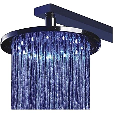 8/'10/'12/'16 Inch LED Shower Head Wall Mounted Square Style Brass Waterfall Shower
