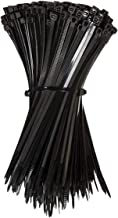 Cable Ties Zip Ties Nylon UV Stabilised Bulk Black Cable Tie (3.00mmx150mm, 100PCS)