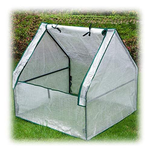 Gewächshaus Balkon Anti-UV Reißverschlussabdeckung Mini Tragbar Isolierung Feuchtigkeitsbeständig Terrasse Foliengewächshaus, 7 Arten Gzhenh (Color : Whiter-90x90x92cm)