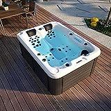 SymbolicSpas 3 Three Person Outdoor Hydrotherapy Bathtub Hot Bath Tub Whirlpool SPA SYM6016A - 51 Jets!
