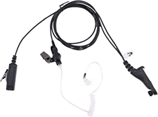 AIRSN Earpiece for Motorola Radio XPR 7550 XPR6350 XPR6550 XPR6580 Walkie Talkie with Acoustic Tube and PTT MIC Headset Long Life Design