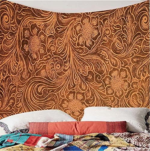 Weibing Tapiz de impresión en Color 3D Estilo nórdico diseño de Moda patrón Abstracto tapices de decoración del hogar Arte de Pared para Habitaciones 260(An) x240(H) cm