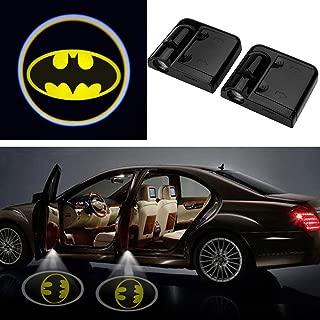 3D Wireless Magnetic Batman Car Door Step LED Welcome Logo Shadow Ghost Light Laser Projector Lamp(Yellow Batman)