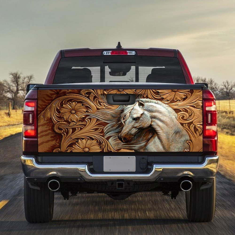 Ranking TOP10 FLAGWIX Truck Special price for a limited time Decals-Horse Tailgate Wrap Sticker TRL Decal