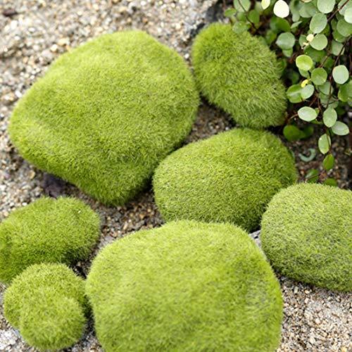 Simulation Of False Moss Simulation Of Bryophyte Stone Moss Flocking False Lawn Micro Landscape Decoration Accessories, Diameter: 6cm hefeizanen
