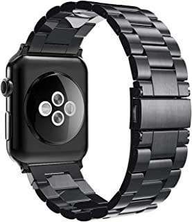 Simpeak Band Compatible with Apple Watch 38mm and 40mm Series 1 2 3 4 5, Women Men Business Band Strap Replacement for App...