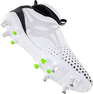 Gilbert Mens Shiro Pro 6 Stud Soft Ground Rugby Boots Sports Shoes Studs White White UK 10
