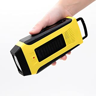 E&W Home Protector Digital Emergency Solar Crank AM/FM/NOAA Weather ALERT Radio for All Types of Hazards,With 2000mAh Power Bank,Flashlight for Camping, Travel, Outdoor Survival Use (092WB, Yellow)