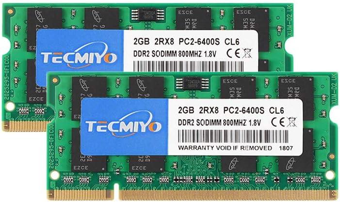 TECMIYO 4GB DDR3 1600MHz PC3-12800 Unbuffered Non-ECC 1.5V CL11 2Rx8 Dual Rank 204 Pin SODIMM Ordinateur Portable M/émoire RAM Module Upgrade 4GB