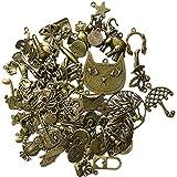 80 piezas de bronce mezclado hecho a mano colgantes colgantes joyas collares accesorios