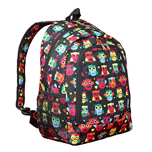 World Traveler Multipurpose Backpack 16-inch-Owl Black, One Size